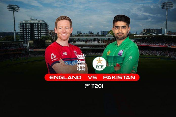 Eng vs Pak 3rd T20 Score