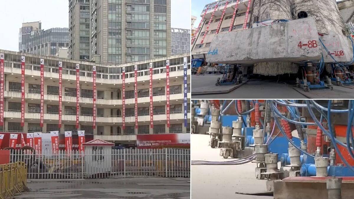 Shanghai School Building Moved