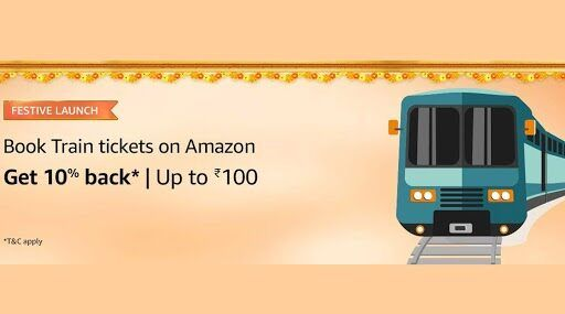 train ticket with amazon pay