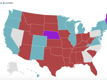 2020 US Election Polls By State Map