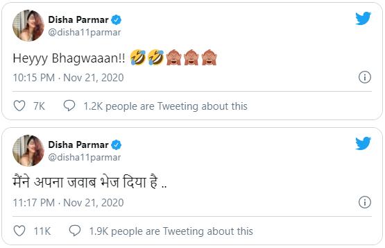 Disha Parmar Reply To Rahul Vaidya