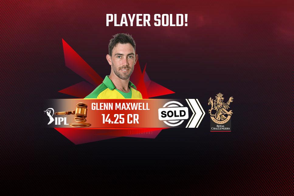 Royal Challengers Bangalore Glenn Maxwell