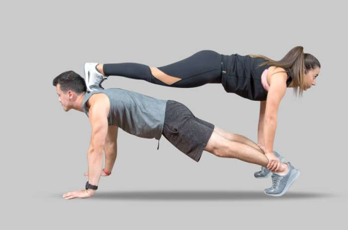 Double Plank Pose